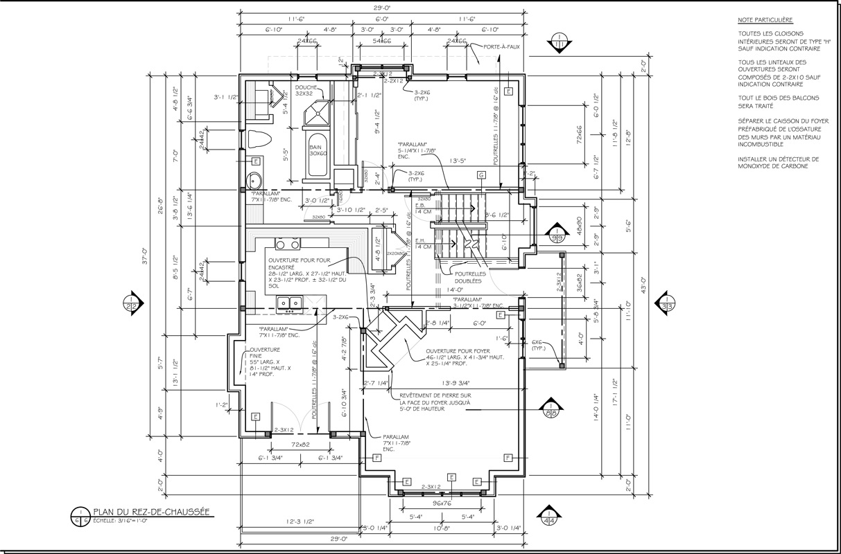 Architectural plans general contractor for Plans architecturaux des maisons