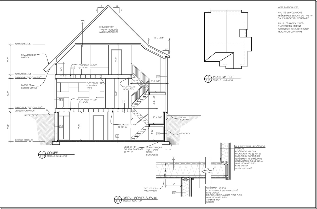 Plan de coupe de maison les jannard plan de maison for Plan maison coupe